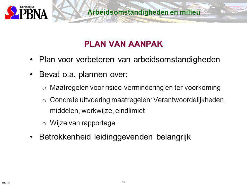 Plan voor verbeteren van arbeidsomstandigheden