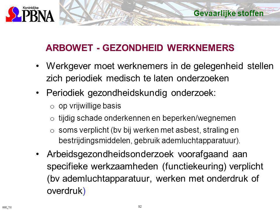 ARBOWET - GEZONDHEID WERKNEMERS