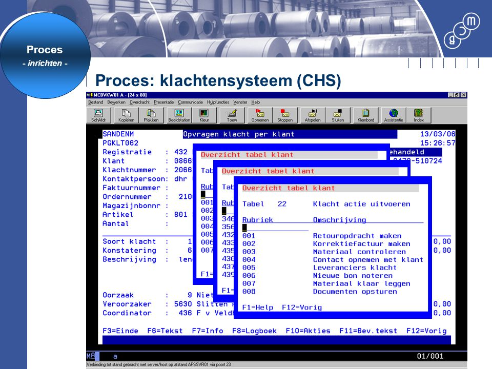 Proces: klachtensysteem (CHS)
