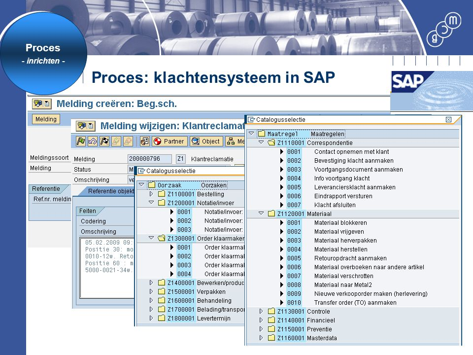 Proces: klachtensysteem in SAP