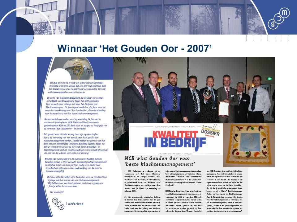 Winnaar 'Het Gouden Oor - 2007'