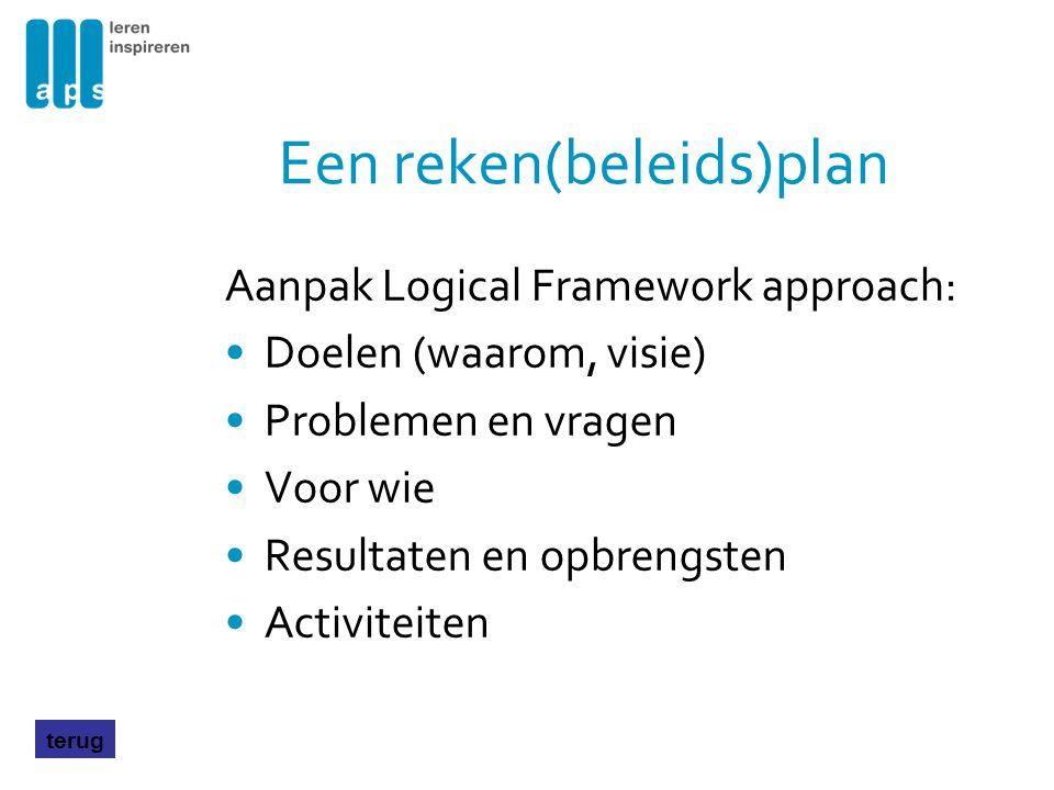 Een reken(beleids)plan