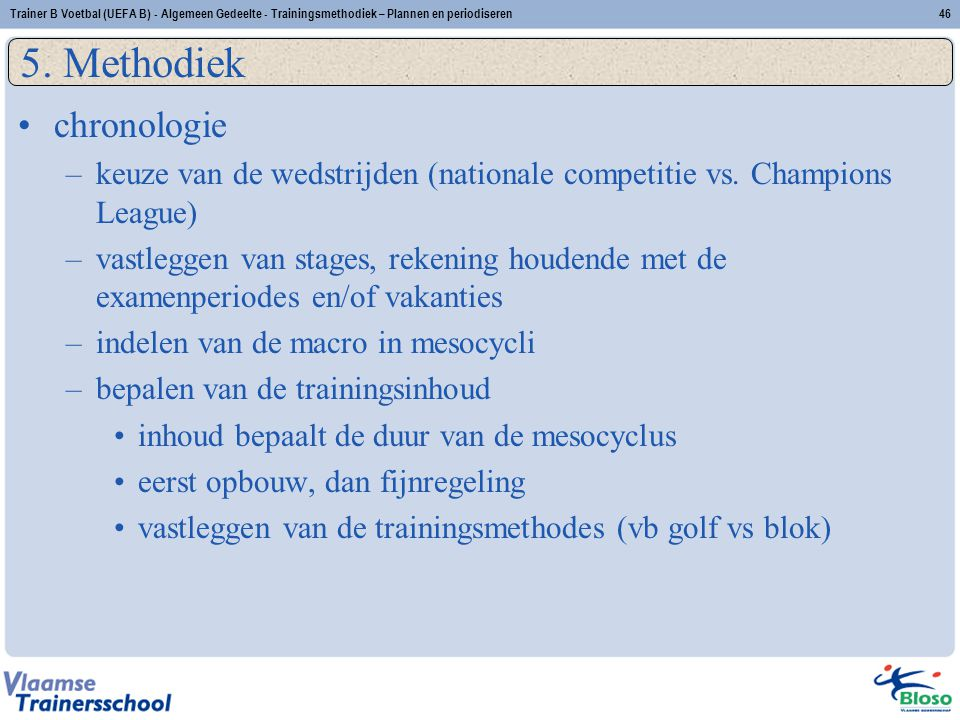 5. Methodiek chronologie