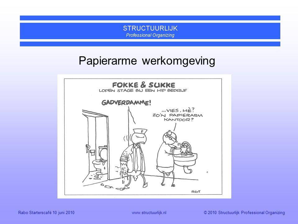 Papierarme werkomgeving
