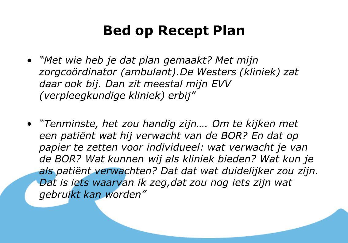 Bed op Recept Plan