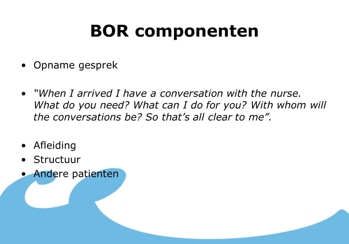 BOR componenten Opname gesprek