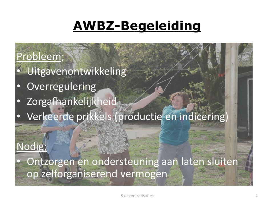 AWBZ-Begeleiding Probleem; Uitgavenontwikkeling Overregulering