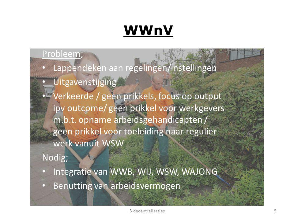 WWnV Probleem; Lappendeken aan regelingen/instellingen