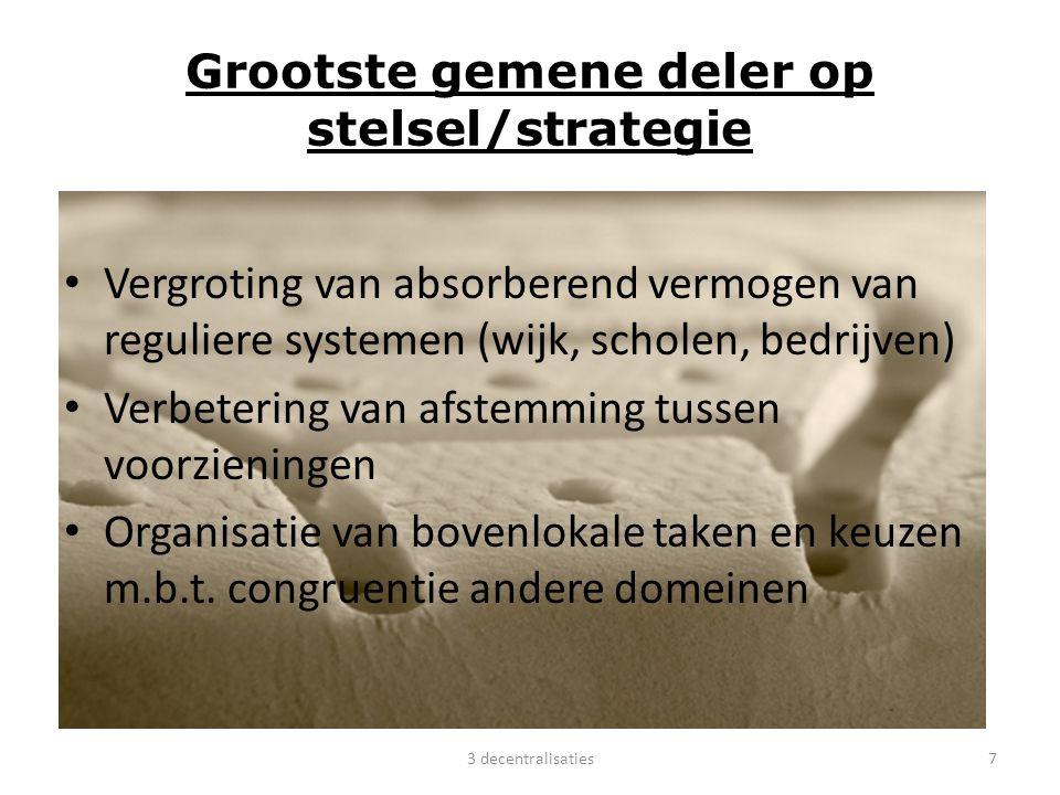 Grootste gemene deler op stelsel/strategie