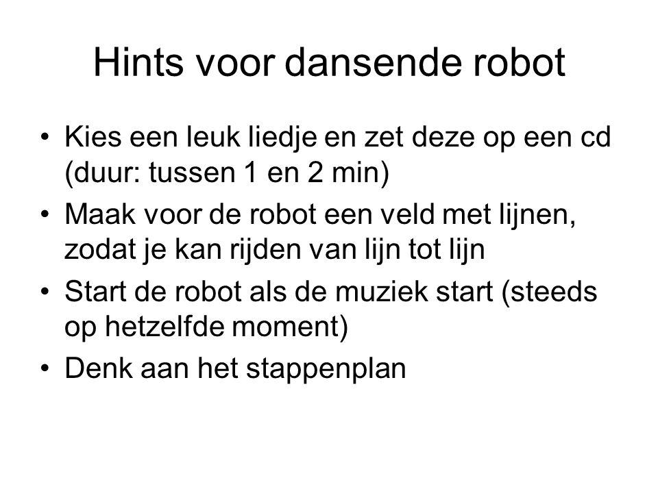 Hints voor dansende robot