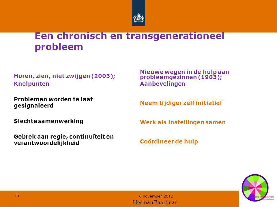 Een chronisch en transgenerationeel probleem