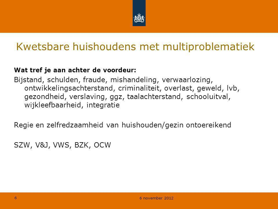Kwetsbare huishoudens met multiproblematiek