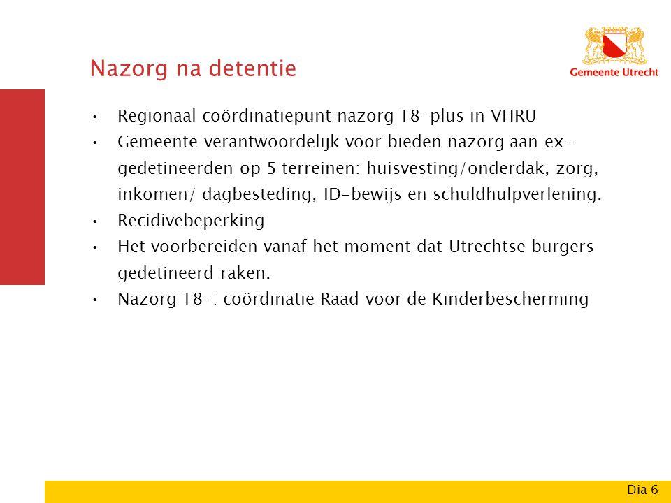 Nazorg na detentie Regionaal coördinatiepunt nazorg 18-plus in VHRU.