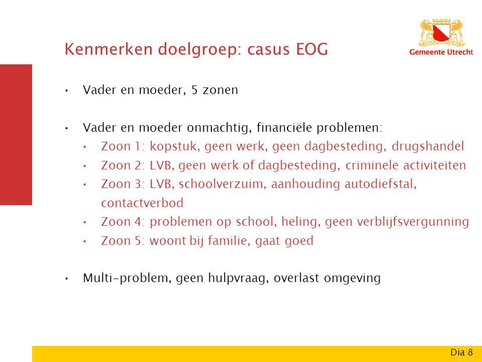 Kenmerken doelgroep: casus EOG