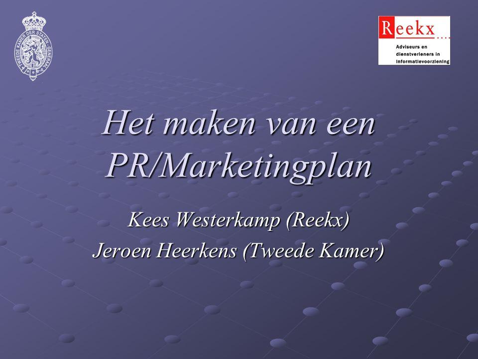 Het maken van een PR/Marketingplan