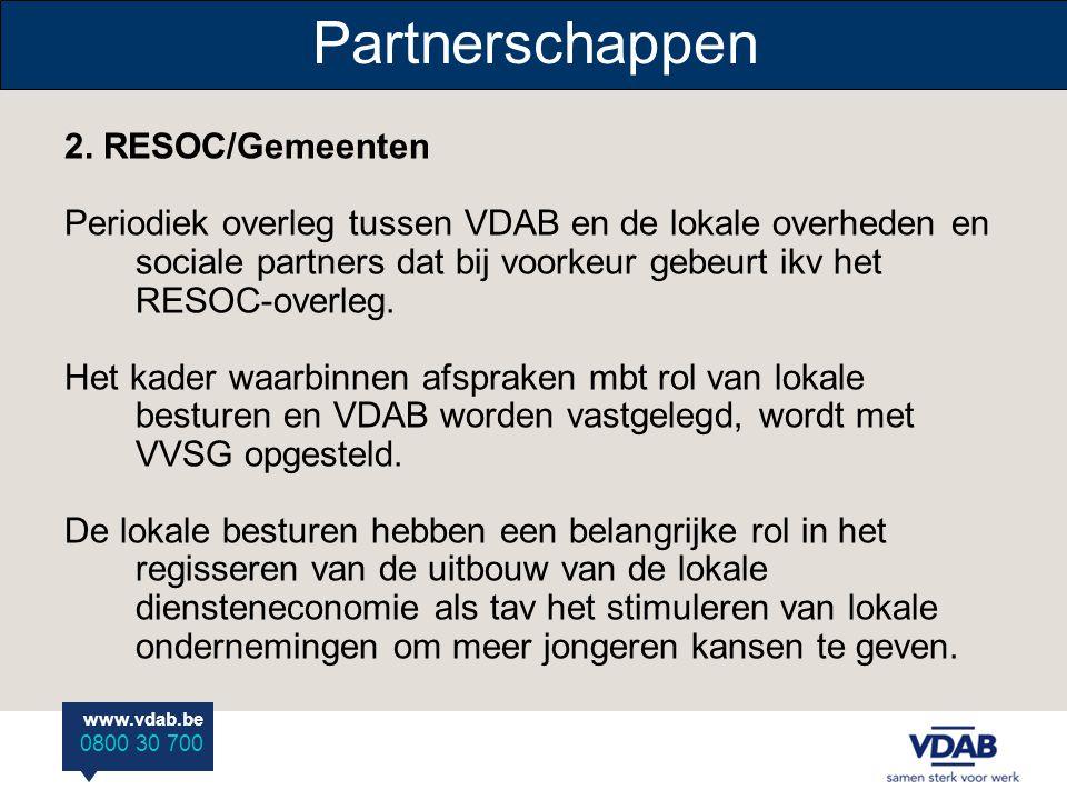 Partnerschappen 2. RESOC/Gemeenten