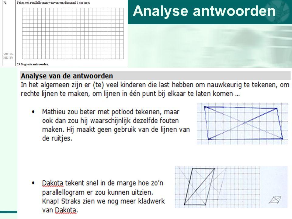 Analyse antwoorden
