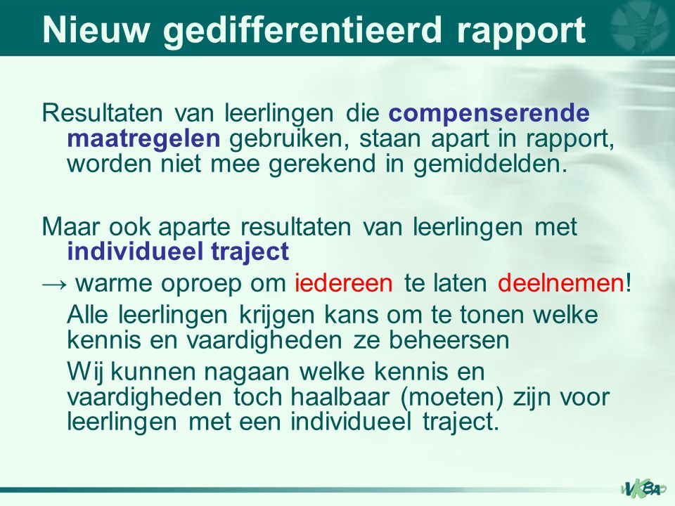 Nieuw gedifferentieerd rapport