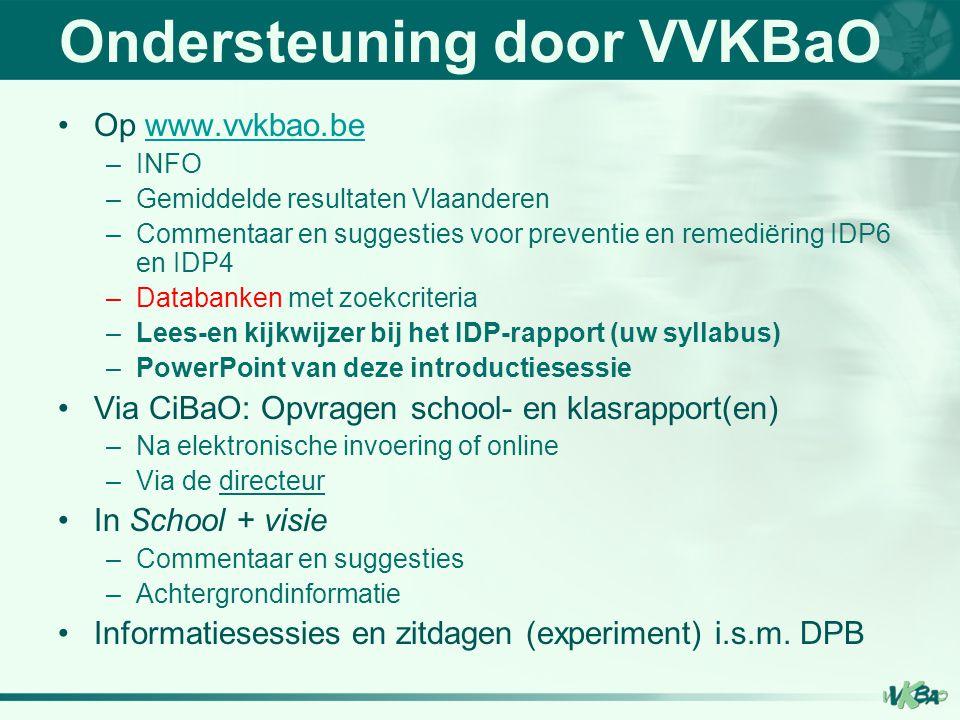 Ondersteuning door VVKBaO