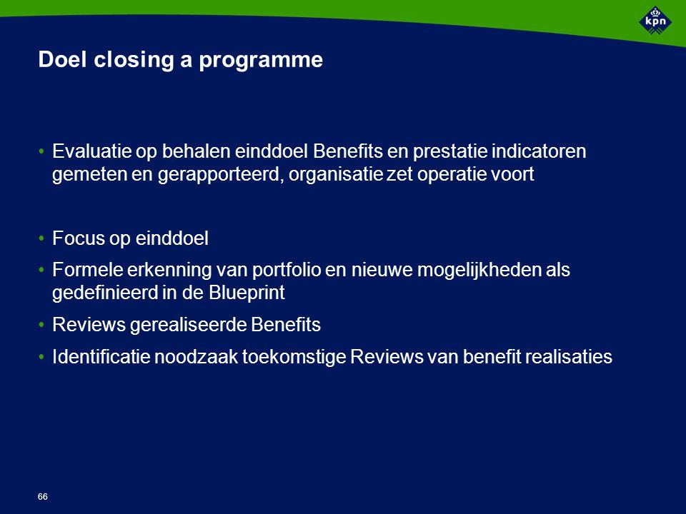Activiteiten Closing a Programme