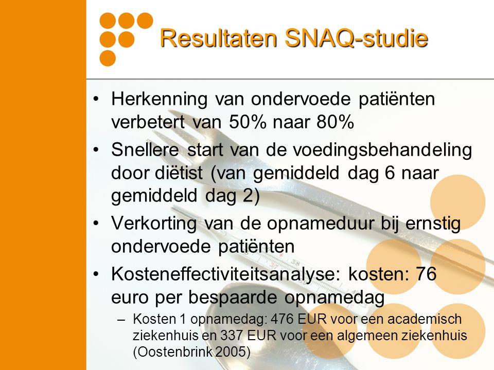 Resultaten SNAQ-studie