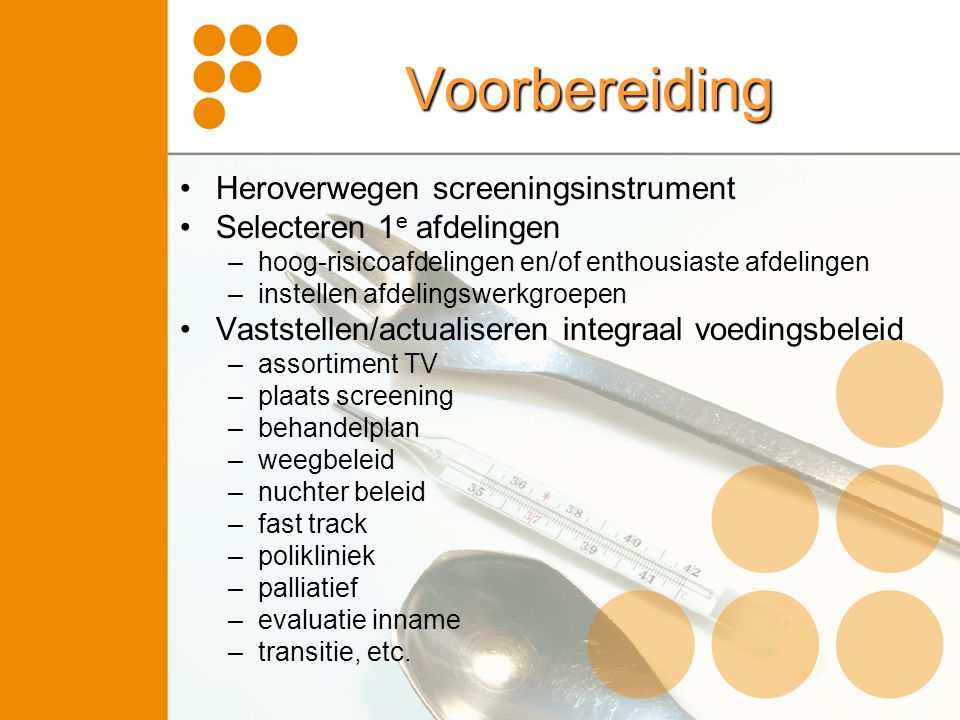 Voorbereiding Heroverwegen screeningsinstrument