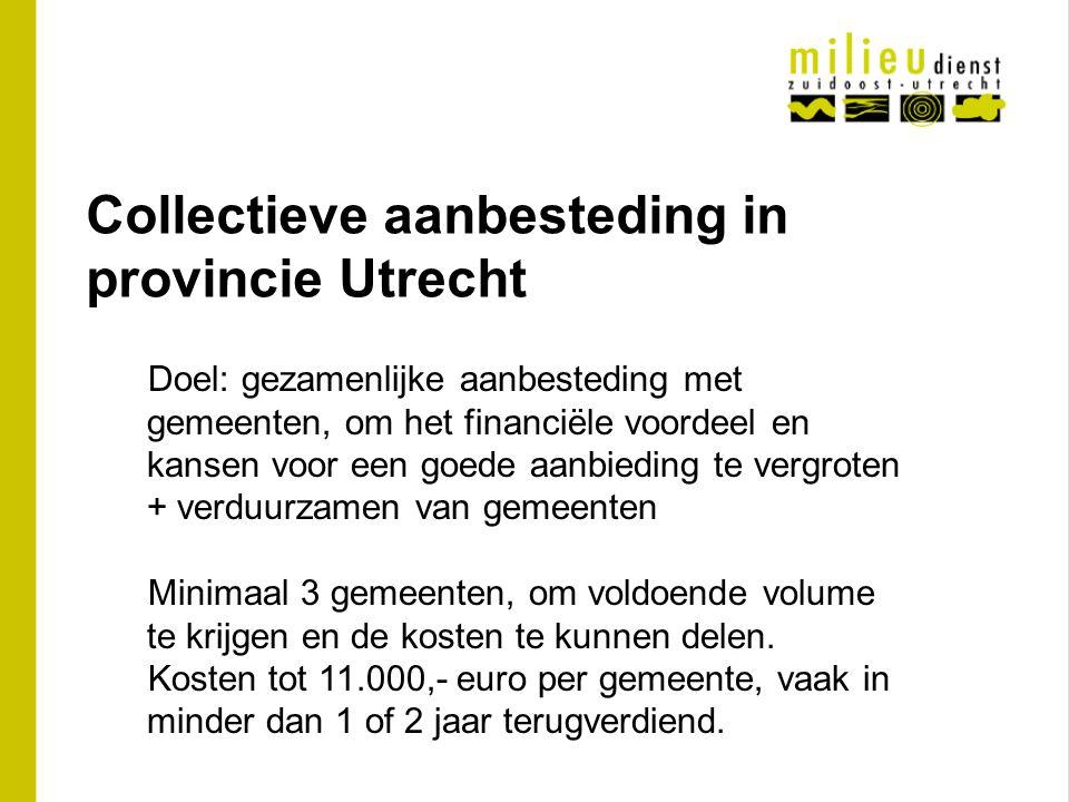 Collectieve aanbesteding in provincie Utrecht