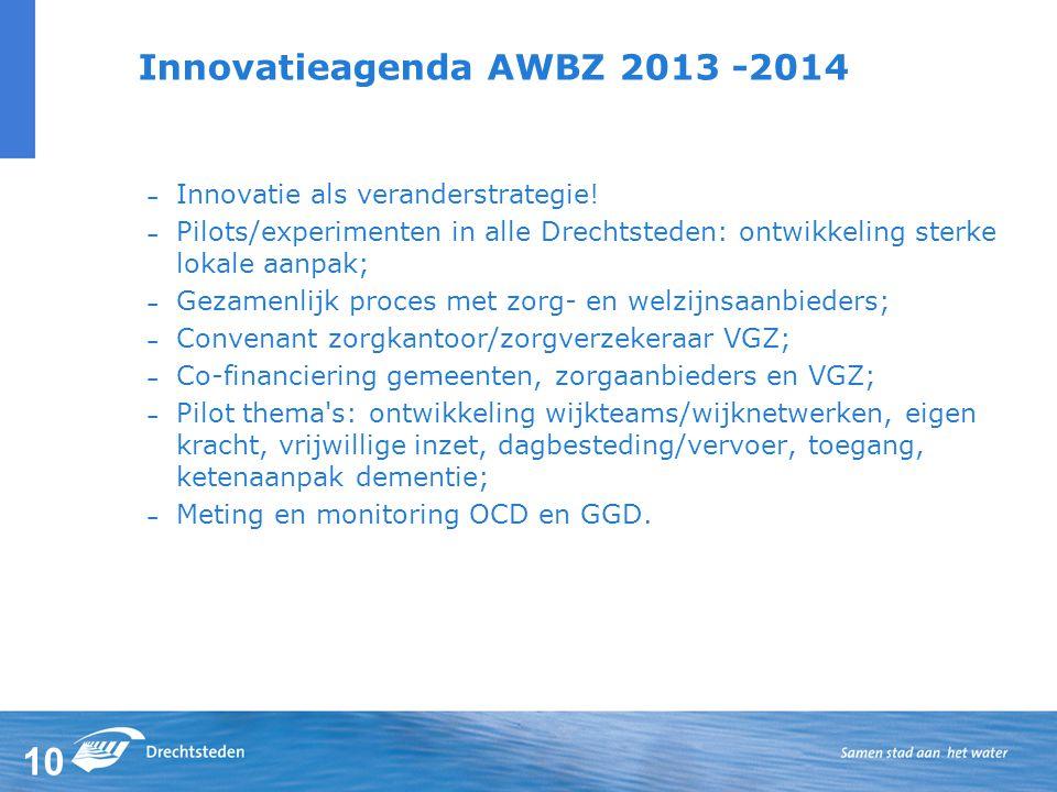 Innovatieagenda AWBZ 2013 -2014