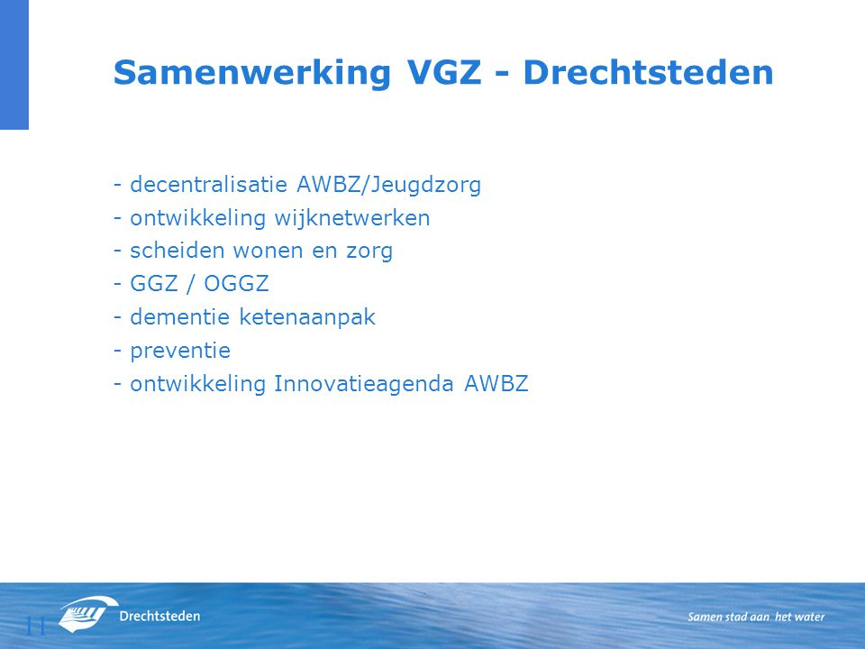 Samenwerking VGZ - Drechtsteden
