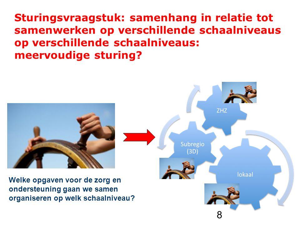 Sturingsvraagstuk: samenhang in relatie tot samenwerken op verschillende schaalniveaus op verschillende schaalniveaus: meervoudige sturing