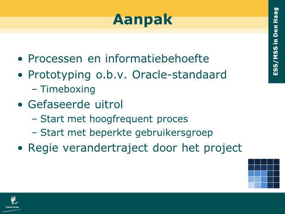 Aanpak Processen en informatiebehoefte