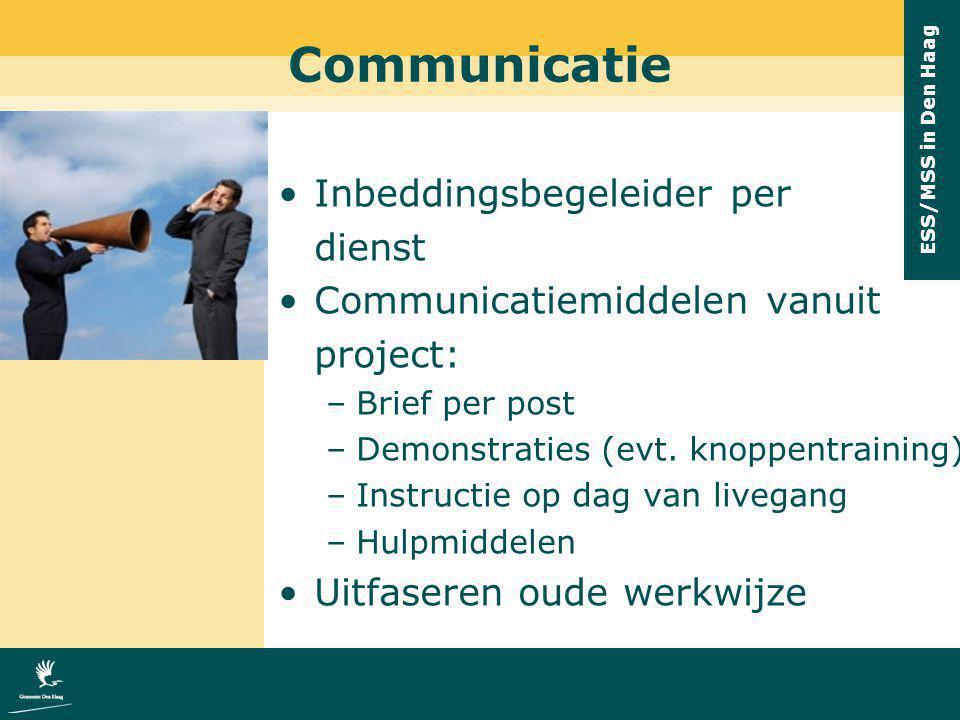 Communicatie Inbeddingsbegeleider per dienst