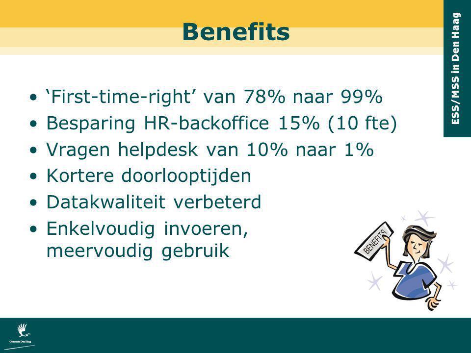 Benefits 'First-time-right' van 78% naar 99%