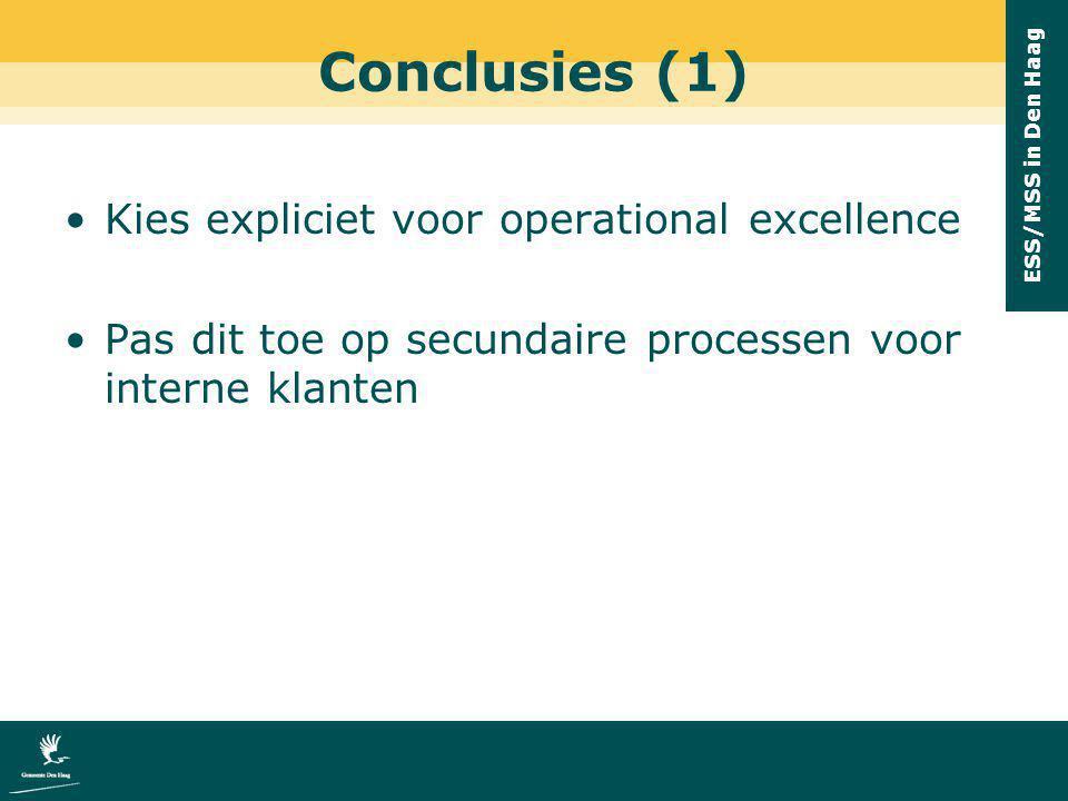 Conclusies (1) Kies expliciet voor operational excellence