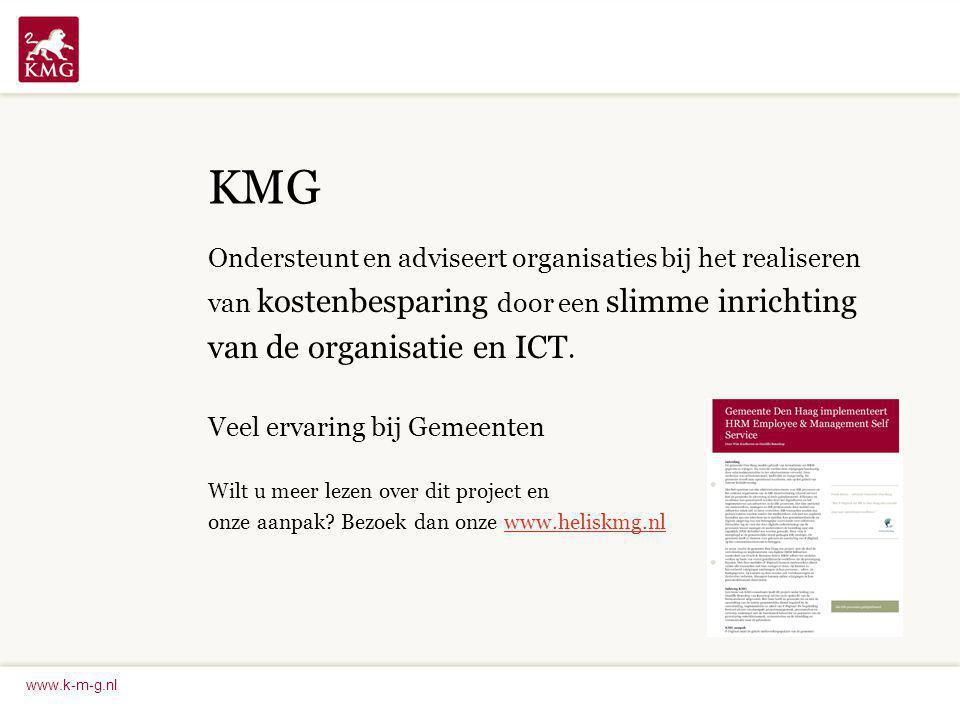 KMG van de organisatie en ICT.