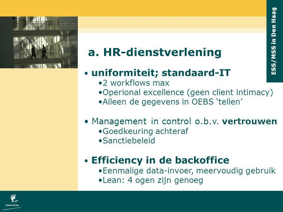 a. HR-dienstverlening Management in control o.b.v. vertrouwen