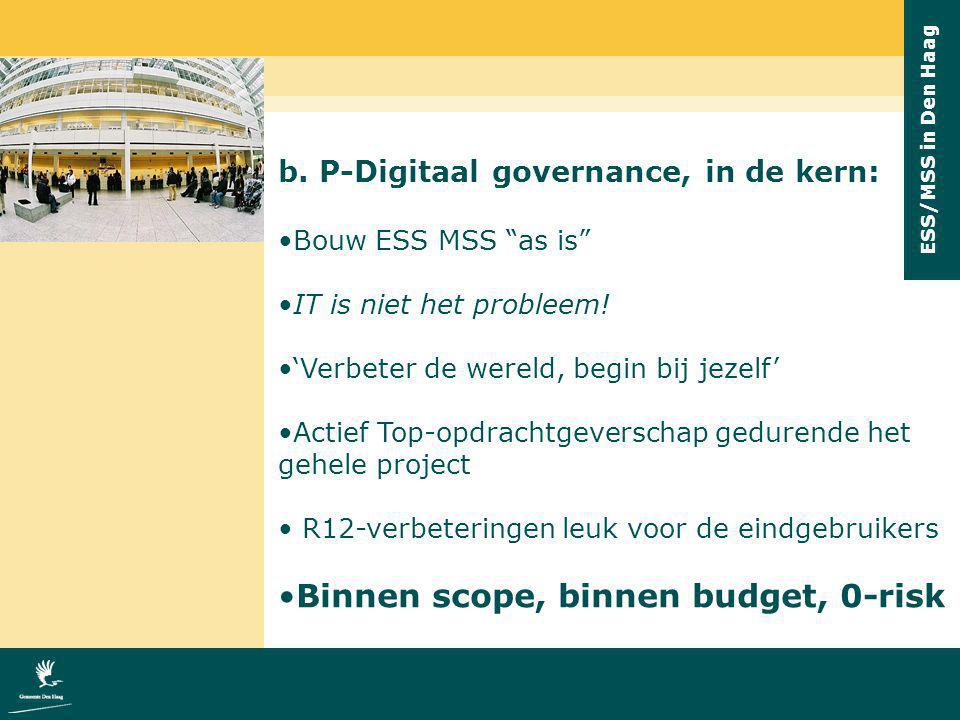 Binnen scope, binnen budget, 0-risk