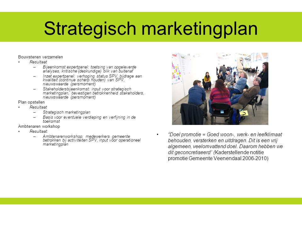 Strategisch marketingplan