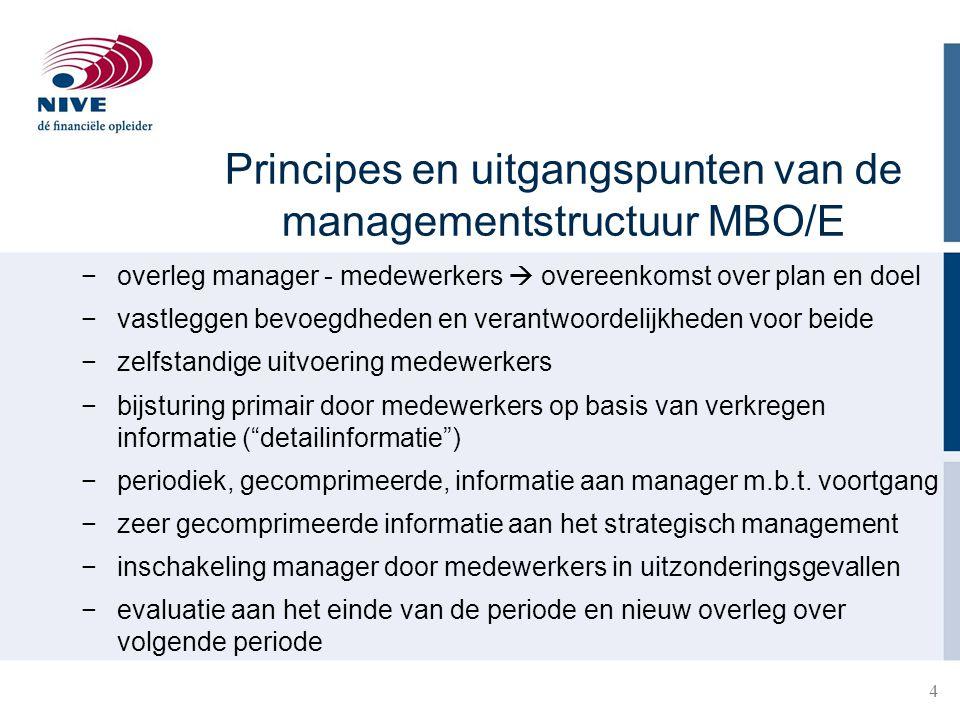 Principes en uitgangspunten van de managementstructuur MBO/E