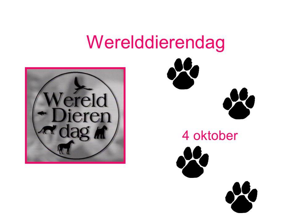 Werelddierendag 4 oktober