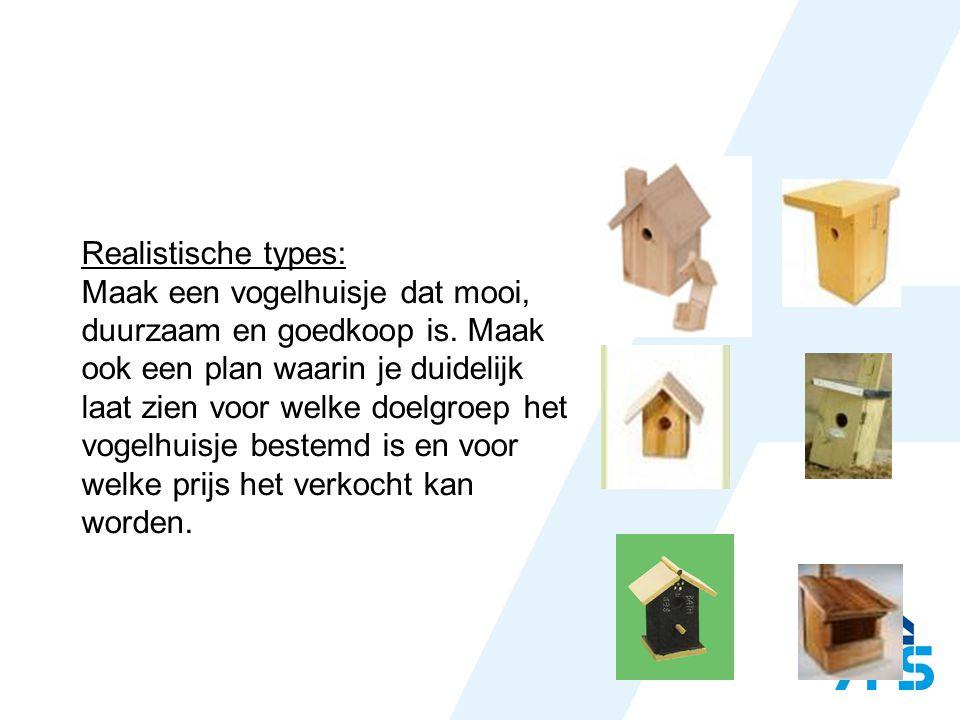 Realistische types: Maak een vogelhuisje dat mooi, duurzaam en goedkoop is.