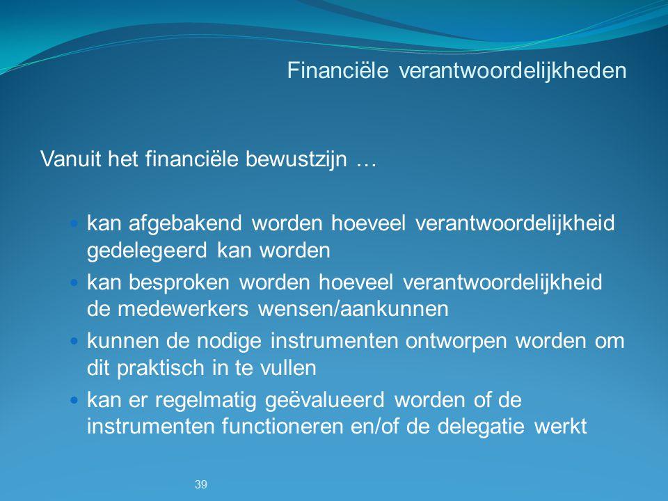 Financiële verantwoordelijkheden