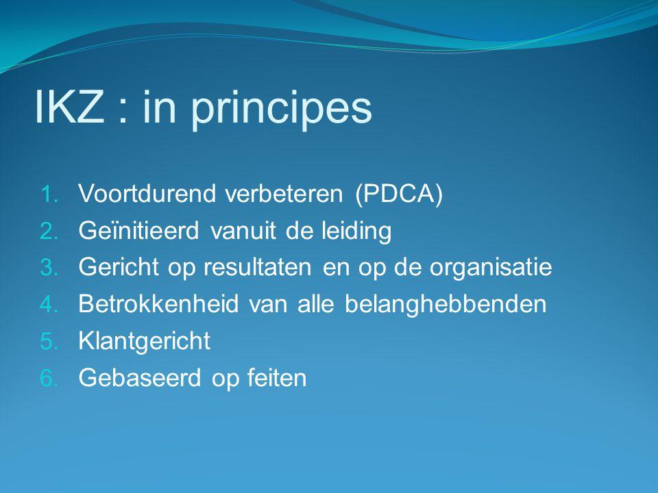 IKZ : in principes Voortdurend verbeteren (PDCA)