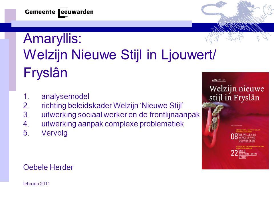 Amaryllis: Welzijn Nieuwe Stijl in Ljouwert/ Fryslân