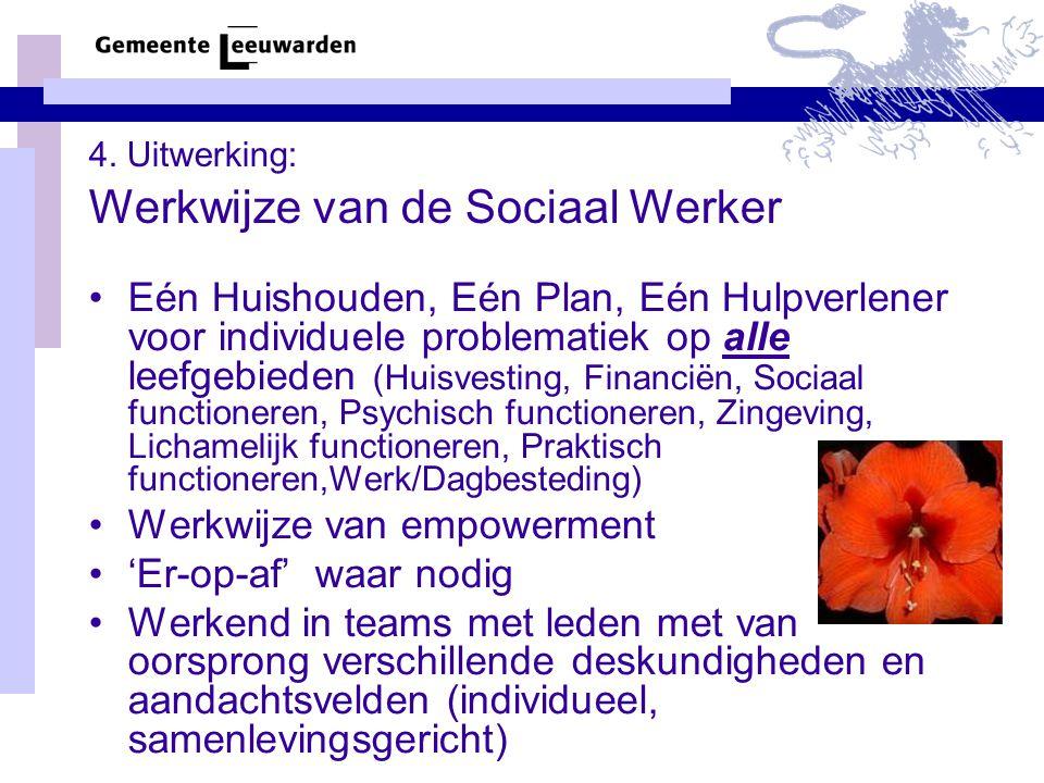 4. Uitwerking: Werkwijze van de Sociaal Werker