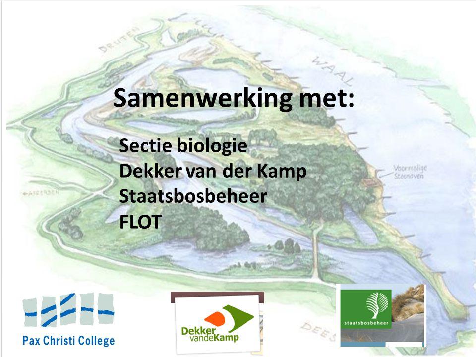 Samenwerking met: Sectie biologie Dekker van der Kamp Staatsbosbeheer