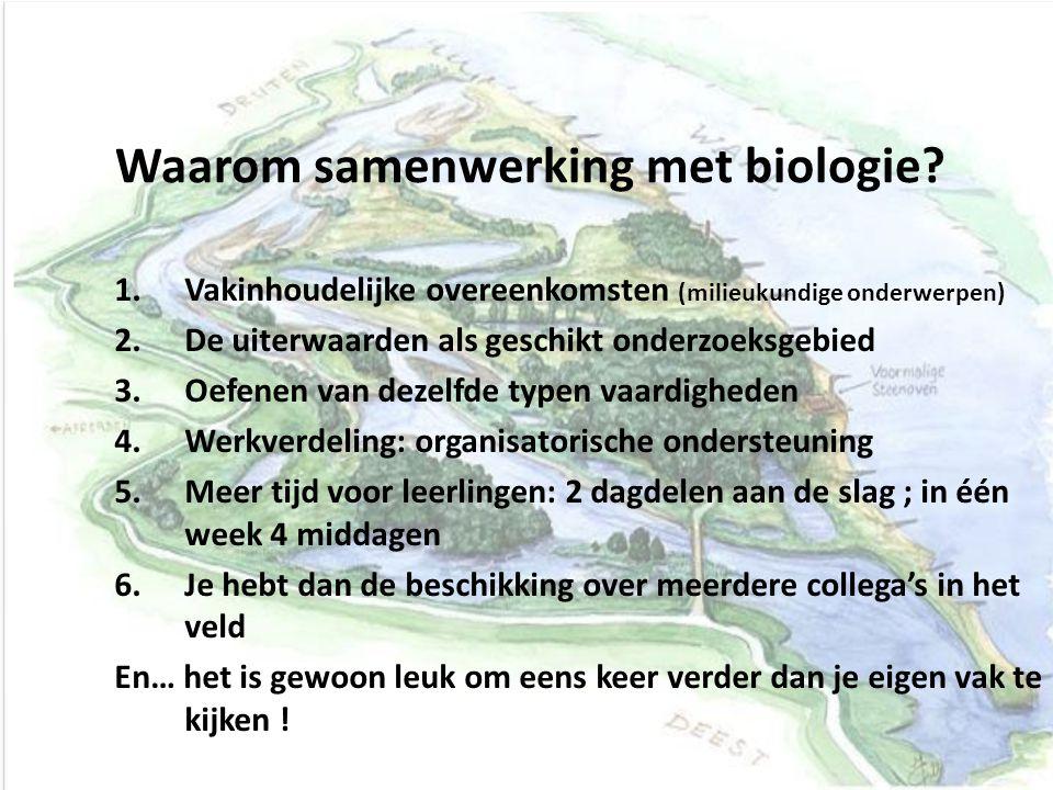 Waarom samenwerking met biologie
