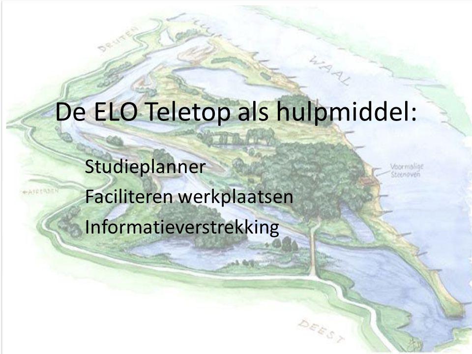 De ELO Teletop als hulpmiddel:
