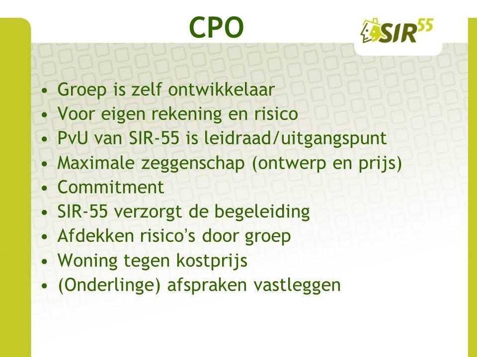 CPO Groep is zelf ontwikkelaar Voor eigen rekening en risico