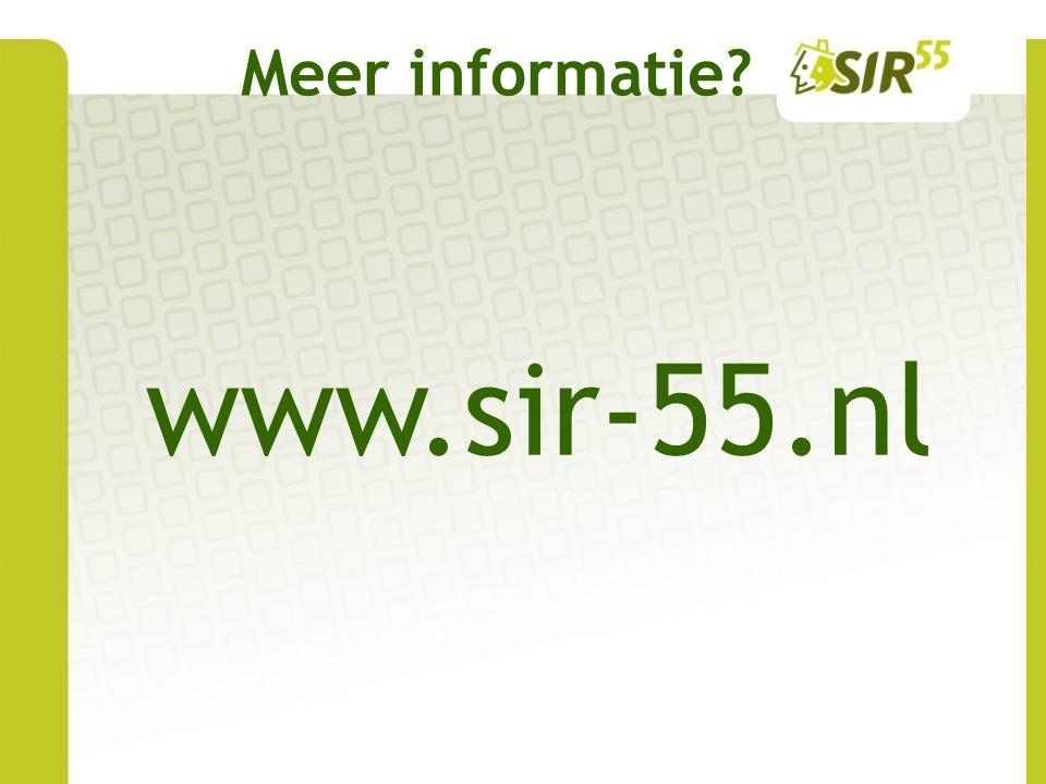 Meer informatie www.sir-55.nl